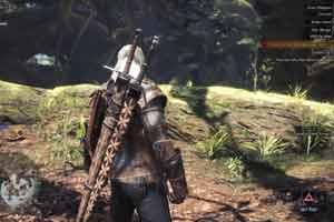 《怪猎世界》与《巫师3》联动演示 杰洛特成真·猎人