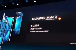 华为5G折叠屏手机Mate X售价1.75万元!真机图曝光