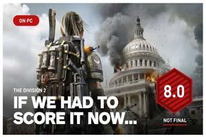 《全境封锁2》IGN临时评分8.0!广阔世界的冒险太美妙