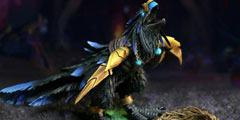 乌克兰美女艺术家各种零碎制作《魔兽世界》生物雕像