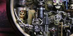 希腊艺术家钟表打造迷你蒸汽朋克世界 你也想拥有