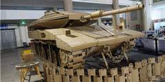 突然想去收纸板 国内模型专家一?#31181;?#26495;1:1打造坦克