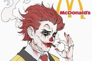 麦当劳叔叔黑化!画师Sillvi绘制黑化快餐店吉祥物