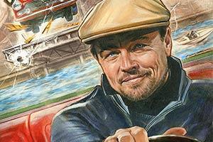 《好莱坞往事》曝角色海报 小李子邪魅一笑开车搞事
