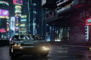 《赛博朋克2077》开车时能听各种音乐 拉风又帅气!