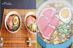 日本美女还原宫崎骏动画美食 细节精确到摆放位置