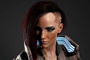 《赛博朋克2077》官方放出游戏角色渲染图 栩栩如生!