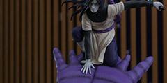 《火影忍者》大蛇丸战斗雕像 手持短剑召唤出巨蛇