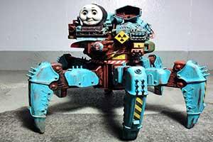 """儿童邪典!造型诡异的杀人机器""""强袭突击托马斯""""!"""