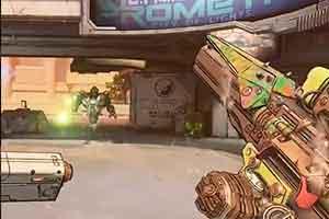 《无主之地3》无限弹匣枪演示 过热?上呲水枪!
