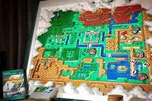 高玩烫珠拼出《塞尔达传说》地图 还原像素格画风