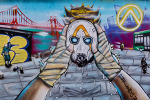 《无主之地3》Logo惊现各地街头 涂鸦呈现躁事者头像