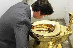 英国丘吉尔庄园价值百万英镑的18K黄金马桶被盗!