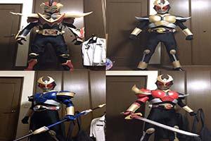 最轻塑料战队!高玩用泡棉拼装垫做出假面骑士战服