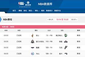 腾讯体育恢复NBA季前赛直播 赛程预告中不见火箭队