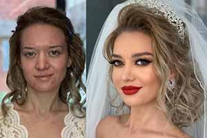 24张对比照片 让你惊叹新娘化妆前后差别多么巨大!