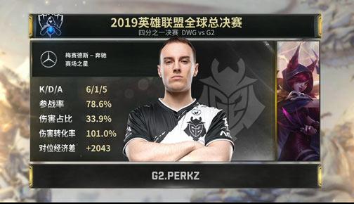 S9:DWG VS G2 瞎子野区被打残 G2最终赢得胜利