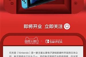 国行switch淘宝店惊现发售营销页 双十二要你剁手!