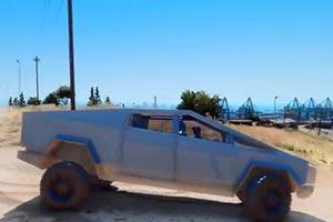 横冲直撞无人能挡 《GTA5》特斯拉皮卡mod发布!