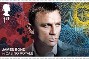 历代邦德亮相!英国发行《007》系列电影纪念邮票