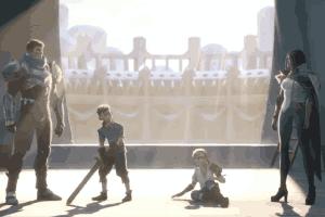 《英雄联盟》公布城邦传说动画:盖伦剑姬联手屠龙!