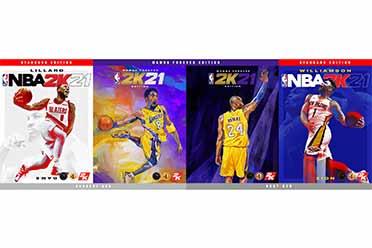 纪念科比传奇!《NBA 2K21》完整封面球员阵容揭晓