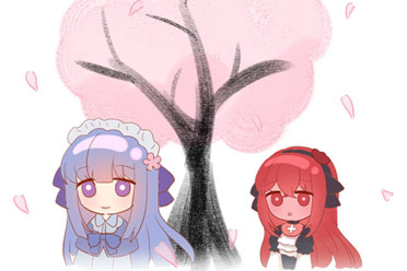动漫风2D互动文字小说游戏《樱下花期》游侠专题上线