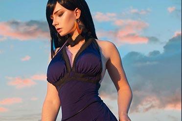 俄妹COS不同版本的蒂法合集:纤腰短裙长腿迷人眼!