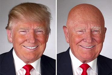 川普老了会秃?外洋网友P图西欧名流朽迈后的模样