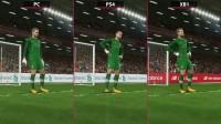 《实况足球2018》PC版与PS4、XboxOne版画质对比
