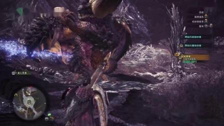 怪物猎人世界帝王长枪 雷 冰 配装试玩