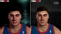 NBA2K17 VS NBA2K16 PC版球员们面补对比
