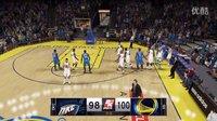 【NBA2K15】王朝模式:库里绝杀杜兰特威少 雷霆憾负勇士