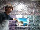 日本宅男游戏王卡片打造现实墙壁