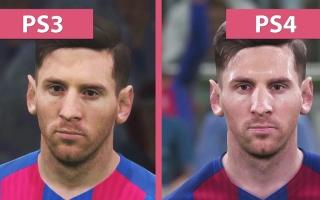 实况足球2017试玩版 PS4 VS PS3 画面特效对比