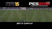 《PES 2016》与《FIFA 15》对比视频