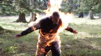 人体火炬!疯小伙可让火焰在身上燃烧5分钟!