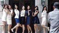 韩国梨花女子大学学生拍毕业照 长发短裙