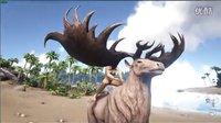 【峻晨解说】新物种-大角麋鹿!装13专用神宠、自带翔跃技能,驯养乘骑指南-方舟生存进