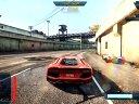 《极品飞车17:最高通缉》兰博基尼VS柯尼塞格0碰墙
