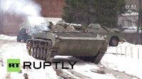 俄罗斯战斗民族就是霸气,开坦克玩滑雪