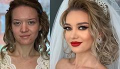 24张对比照片 让你惊叹新娘化妆前后差别多么大!