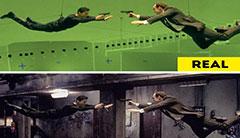 原来是这么拍的!10张爆笑的电影特效前后对比图