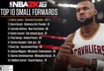 《NBA 2K16》5大位置TOP10