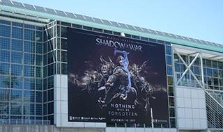 E3 2017:场外也是斗法的舞台 看E3室外海报与布景