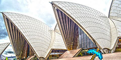 悉尼歌剧院举办玩家活动会 《我的世界》火遍全球