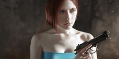 俄罗斯美女COS《生化危机3》吉尔 肤白貌美大长腿!