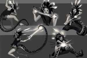 《LOL》新英雄妮蔻概念设计图 初期设计更加狂野!