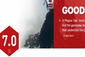 《瘟疫传说:无罪》IGN评分7.0!故事优秀玩法太简单