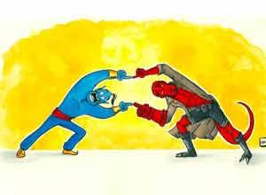龙珠迷艺术家玩起融合术 动漫游戏角色合体创作欣赏